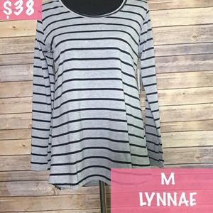 Black and grey striped long sleeve